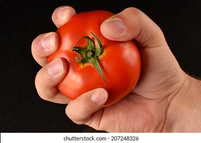 Squeezed tomato