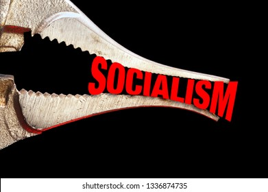 Squeezing Socialism tight with chrome pliers.