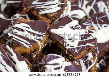Squillionaires Shortbread Beautiful Marbled Chocolate Top Stock
