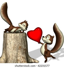 A  squirrel gives her its heart.