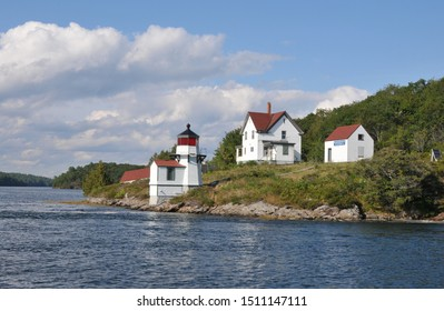 Squirrel Point Lighthouse on the Kennebec River in Maine