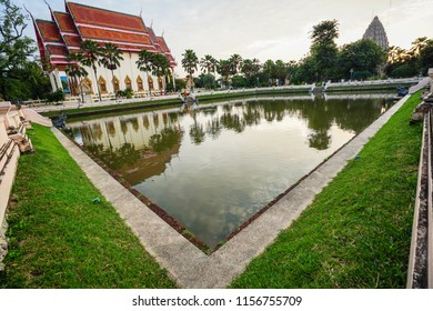 Sra Singh Tho, Pond in Wat Klang the water was taken to offer to His majesty the King Rama IX's birthay celebration.