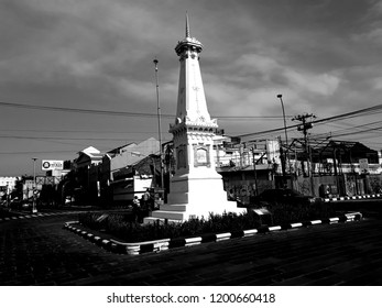 SRAGEN, INDONESIA - OCTOBER 12, 2018: Jogja Monument Is the Special Symbol of the City Yogyakarta