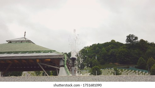 Srebrenica, Bosnia-Herzegovina, June 01 2020: Srebrenica-Potocari memorial and cemetery for the victims of the 1995 massacre