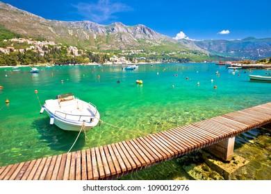 Srebreno coastline and waterfront view, tourist archipelago of Dubrovnik, south Dalmatia region of Croatia