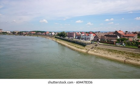 Sremska Mitrovica, Serbia - June 9, 2016: View from Bridge of St. Irinej on Sremska Mitrovica