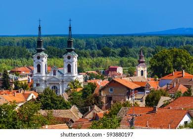 Sremski Karlovci old town - Serbia - architecture travel background