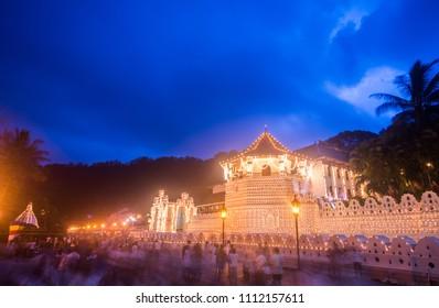 Sri Dalada maligawa the temple of tooth in Kandy, Sri Lanka