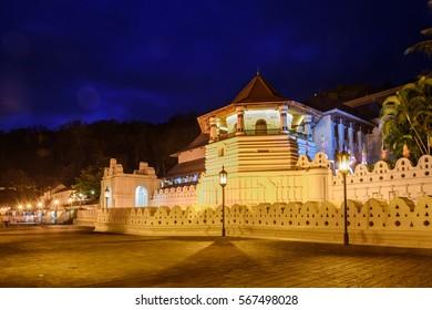 Sri Dalada Maligawa temple in the town of Kandy, Sri Lanka