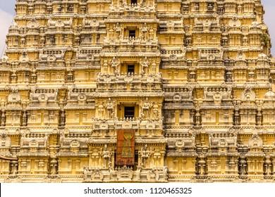 Sri Ekambaranathar Temple detail, an Hindu temple in Kanchipuram,  Tamil Nadu, India