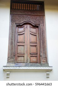 Sri lanka ancient, traditional Carved Wooden Door Frames and window frames of Sri Dalada Maligawa Kandy