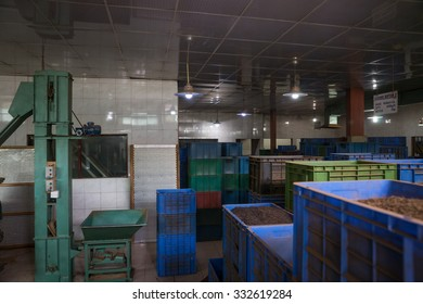 Sri Lanka. Kandy - August 16, 2015. Inside The Tea Plantation. Tea processing at the Factory.