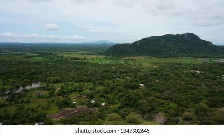 Sri Lanka landscapes nature background near Mihintale