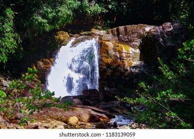 Sri Lanka, Sinharaja Waterfall. The center of the island.