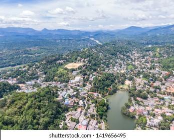 Sri Lankan city, Kandy, ancient kingdom kandy, aerial view of kandy city, must visit place in Sri Lanka, Kandy