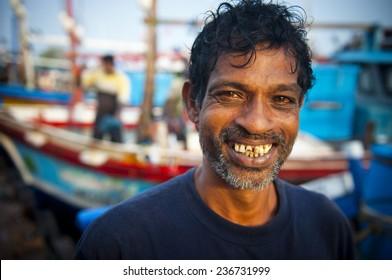 Sri Lankan fisherman.
