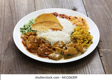sri lankan rice and curry dish
