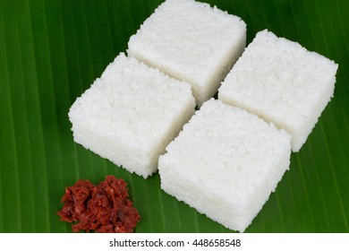 Sri Lankan style milk rice or kiribath in kesel kole