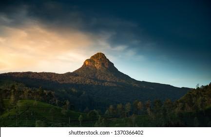 Sri Pada (Adam's Peak) mountain view in Sri Lanka
