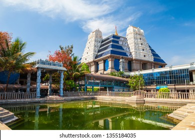 Sri Radha Krishna Temple is located at Bangalore in India, one of the largest ISKCON temples in the world