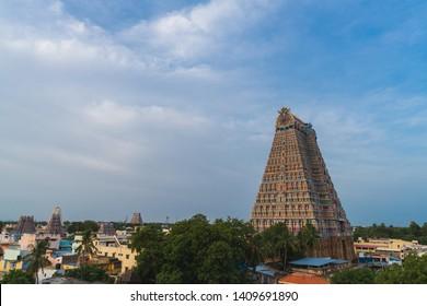The Sri Ranganathaswamy Temple, the biggest hindu temple in India, Tiruchirappalli or Trichy, Tamil Nadu - India