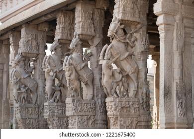 The Sri Ranganathaswamy Temple, thr biggest hindu temple in India, Tiruchirappalli or Trichy, Tamil Nadu - India