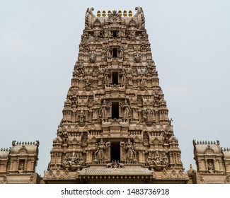 Sri Shakti Devasthanam Temple in Selangor, Malaysia. It is one of the most beautiful hindu temples in Malaysia. Figures of the temple are all over the main tower.