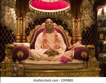 Srila Prabhupada wax figure (Palace of Gold)