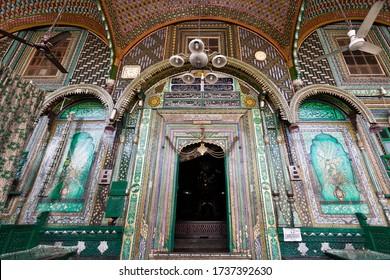 Srinagar, India, 2012: The entrance of the Shah E Hamdan R.H Mosque