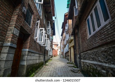 Srinagar, India - Jul 2, 2015. Old buildings in Srinagar, India. Srinagar is one of several places that have been called the Venice of the East.