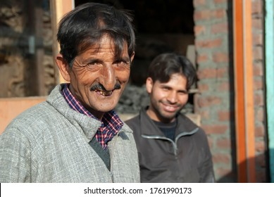 SRINAGAR, INDIA - MAY 5 2009: Portrait of unidentified smiling man in Srinagar city, Kashmir, India. Most of local people are helpful and friendly, but proud to be Kashmiri.