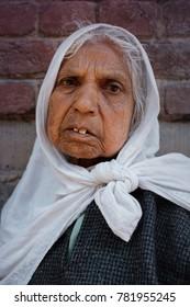 Srinagar, Jammu and Kashmir, India. 24 May 2014. documentary. Portrait of an elderly Kashmir woman from a rural village.