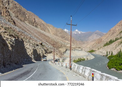 Srinagar - Kargil road in Jammu and Kashmir state in Northern India