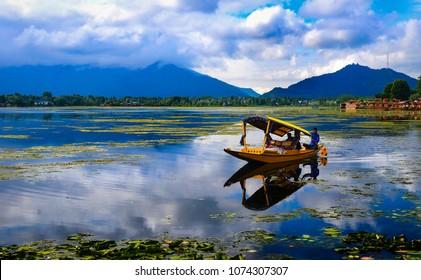 Srinagar,Jammu and Kashmir/India-June 1 2014:Dal Lake in Kashmir