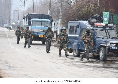 Srinagar,j&k,India,2019\02\02 Security has been heightened in troubled Himalayan region ahead of the Indian prime minister's visit tomorrow