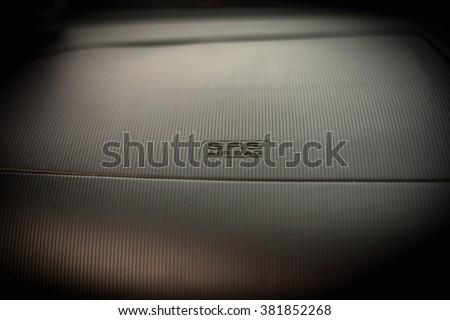 SRS airbag caption on