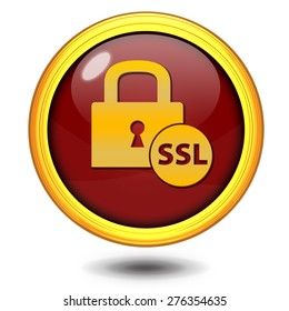 SSL circular icon on white background