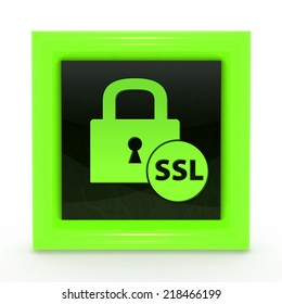 SSL square icon on white background
