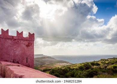 St Agatha's Tower in malta - Shutterstock ID 1968251284