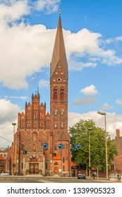 St. Alban's Church. Odense. Denmark. Odense is the birth place of Hans Christian Andersen