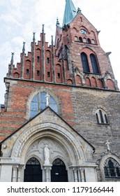 St. Andrew Church in Ciężkowice. Location: Poland. Lesser Poland Voivodeship, Tarnów County.