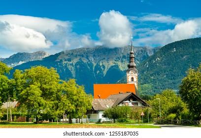 St. Andrew Church in Mosnje village - Radovljica, Slovenia