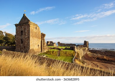 St Andrews Castle ruins, Fife, Scotland.