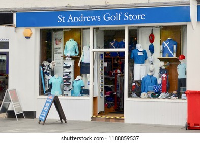 St Andrews golf shop next to the Old course in St Andrews, Fife, Scotland UK. AUGUST  2018