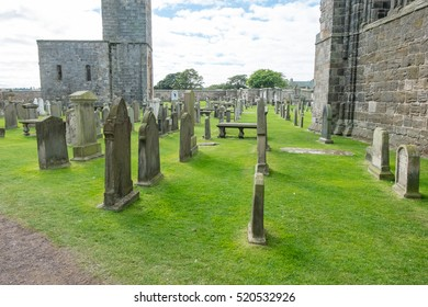St. Andrews, Scotland. 19 September 2016 - Tourist around Ruin of St Andrews Cathedral in St Andrews,Fife, Scotland
