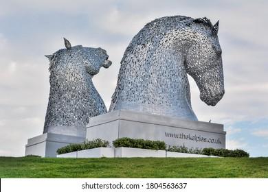 St Andrews, Scotland, United Kingdom – September 10, 2017.  The Kelpie Maquettes sculptures in St Andrews, Scotland.