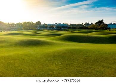 St Andrews, Scotlant, United Kindom - November 2017: Landscape of the famous Old Golf Course