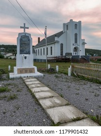 ST. ANTHONY, NEWFOUNDLAND/CANADA - AUGUST 1, 2018: Exterior of the St. Anthony United Church on West Street in St. Anthony