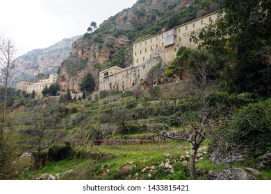 St. Antoine monastery on the slope of mount in Kadisha valley, Lebanon