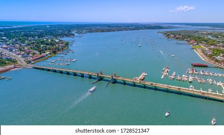 St. Augustine Bridge of Lions Aerial View